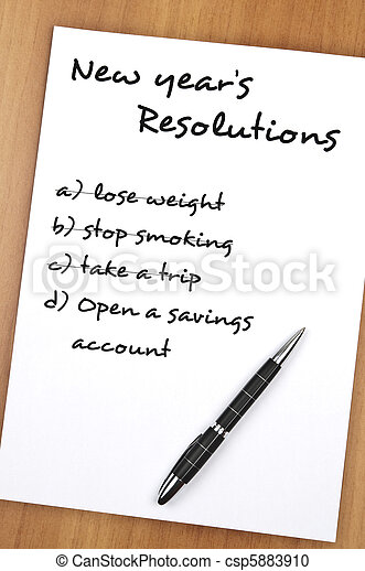 New year resolutions - csp5883910