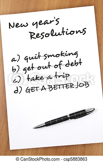 New year resolutions - csp5883863