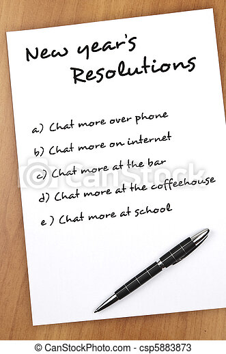 New year resolutions - csp5883873