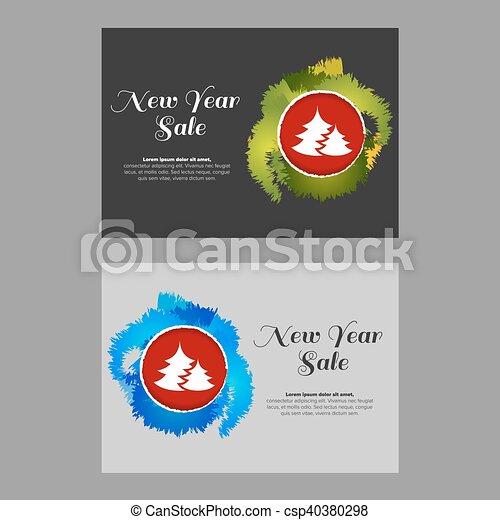 new year sale banner csp40380298