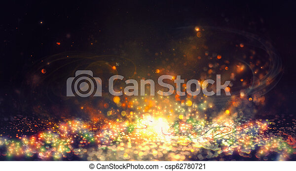 New Year shiny abstract background. Fairy string lights backgrou - csp62780721