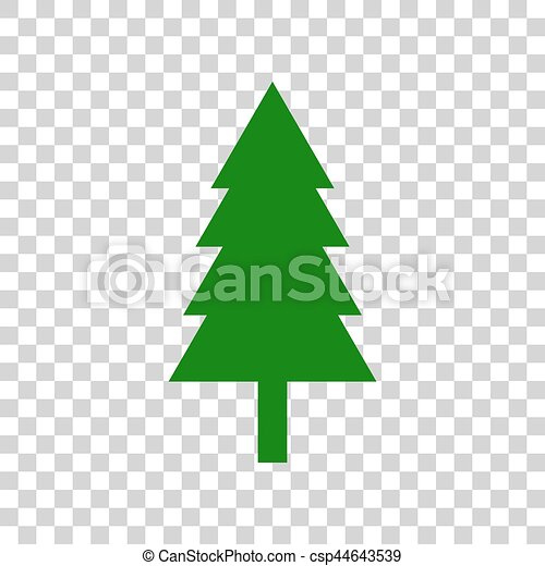 new year tree sign dark green icon on transparent background