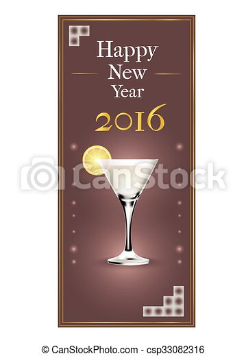 new years party invitation card vector