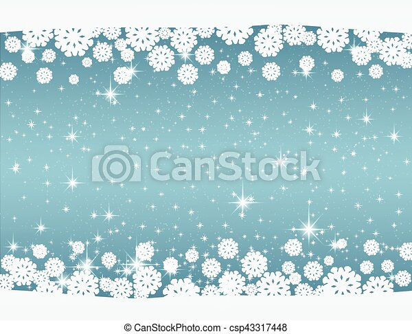 New Year's and Christmas blue background - csp43317448