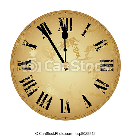 new years clock isolated csp8028842