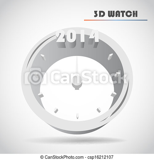 New Year's clock vector - csp16212107