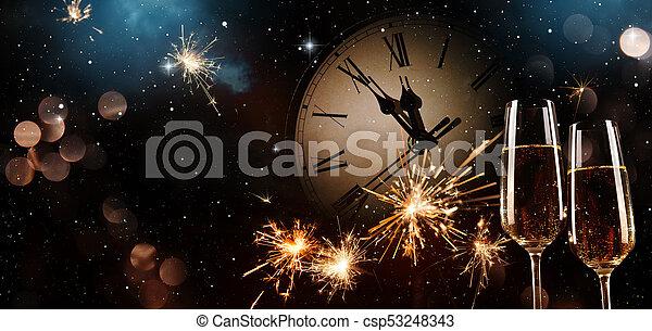 new years eve celebration background csp53248343