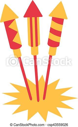 New years eve firework rockets - csp43559026