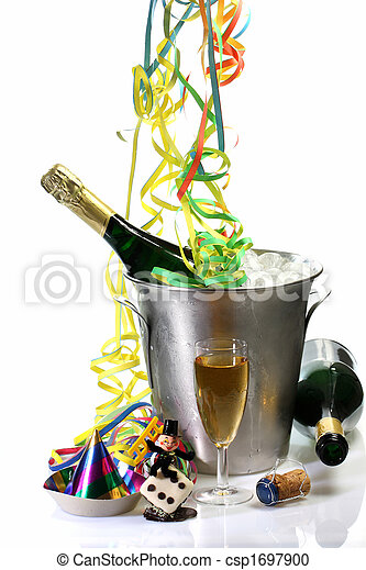 New Years Eve with Champagne - csp1697900