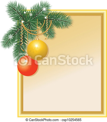 New Year's frame with balls - csp10254565