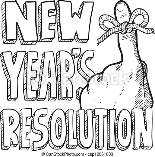 new years resolution sketch csp12061603