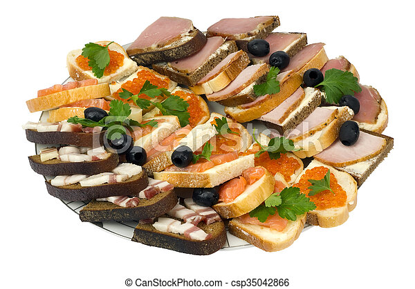 New Year's sandwiches isolated - csp35042866