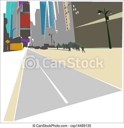 New York background - csp14489135