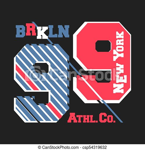 20cd3fb90 T-shirt print design. new york brooklyn vintage t shirt stamp. printing and badge  applique label college t-shirts, jeans, casual wear. vector illustration.