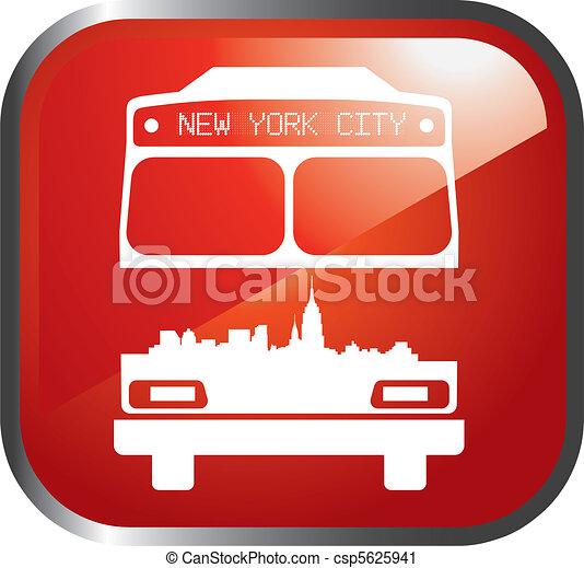 new york bus - csp5625941