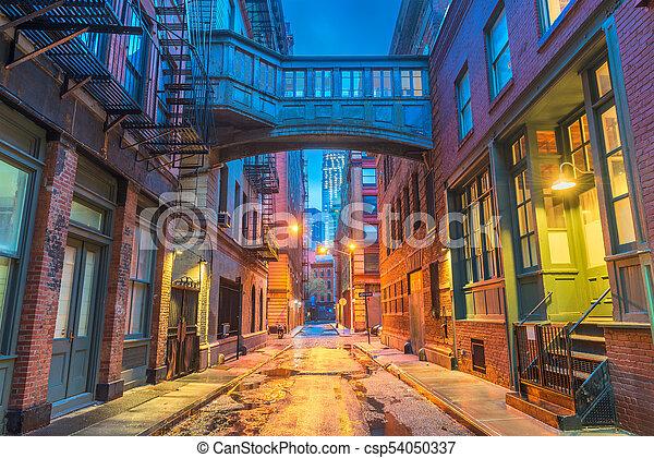 New York City Alleyways - csp54050337