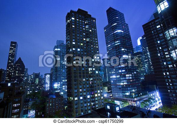 New York City at night - csp61750299