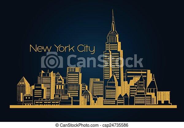 New York city background - csp24735586
