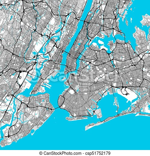 Downtown New York Map on