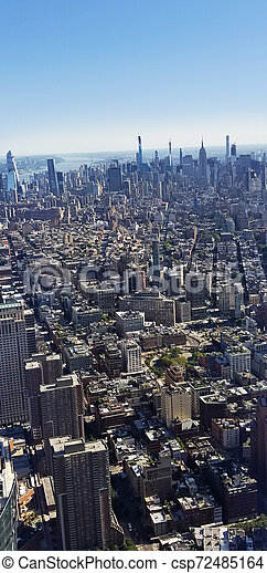New York City Buildings Skyline View From Above - csp72485164