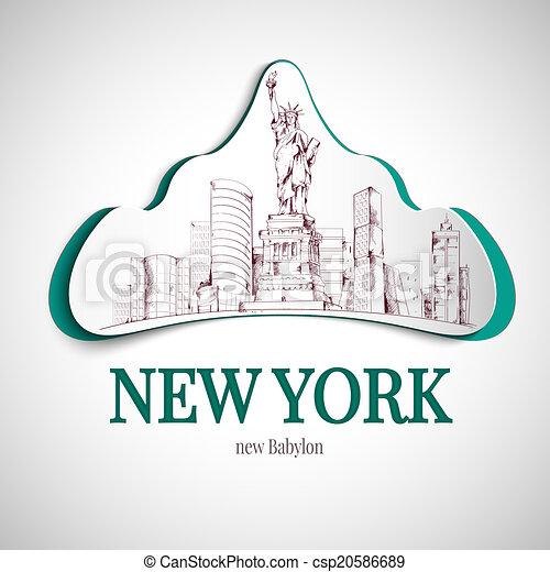 New york city emblem - csp20586689