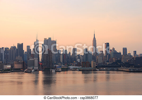 New York City in the morning - csp3868077