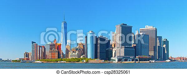 New York City lower Manhattan - csp28325061