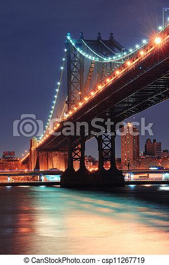 New York City Manhattan Bridge - csp11267719