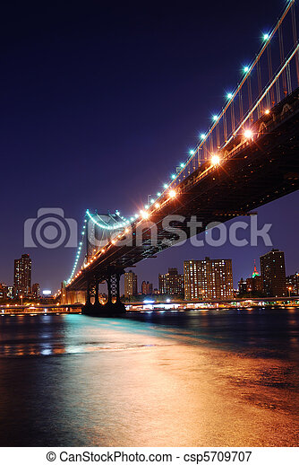 New York City Manhattan Bridge - csp5709707