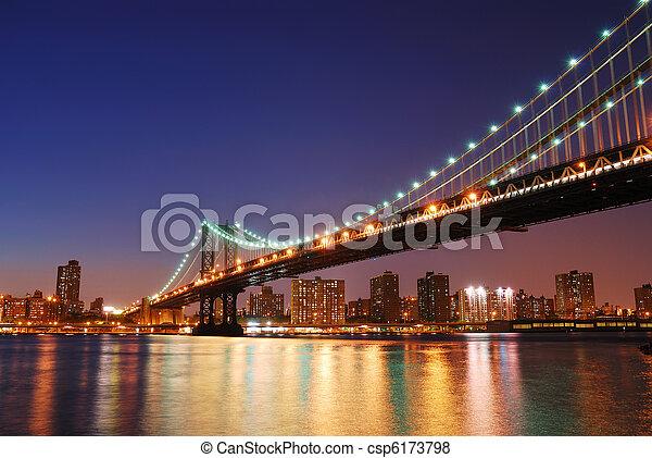 New York City Manhattan Bridge - csp6173798