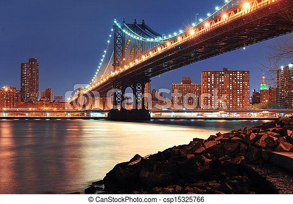 New York City Manhattan Bridge - csp15325766