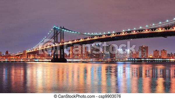 New York City Manhattan Bridge - csp9903076