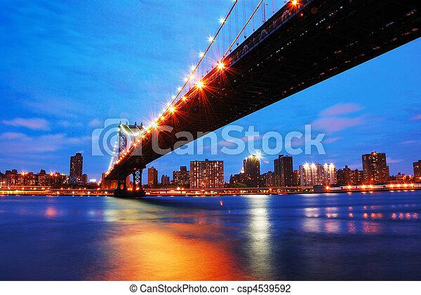 New York City Manhattan bridge - csp4539592