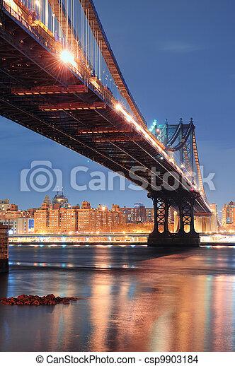 New York City Manhattan Bridge - csp9903184