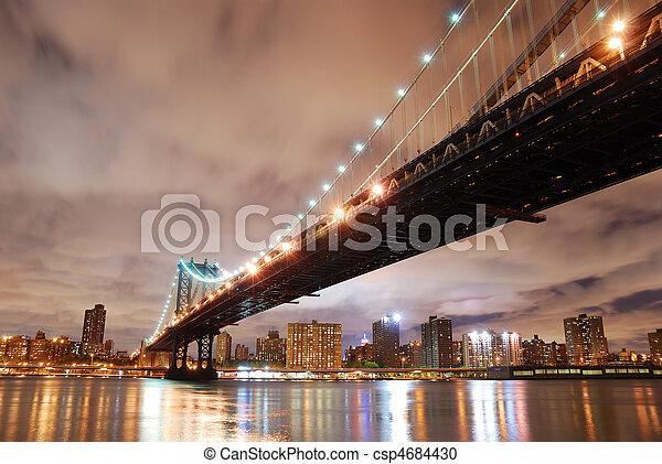 New York City Manhattan Bridge - csp4684430