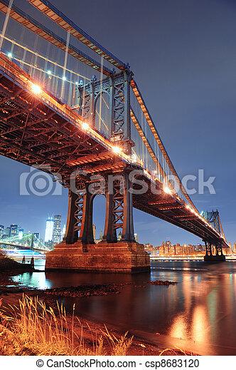 New York City Manhattan Bridge - csp8683120