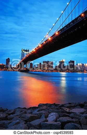New York City Manhattan bridge - csp4539593