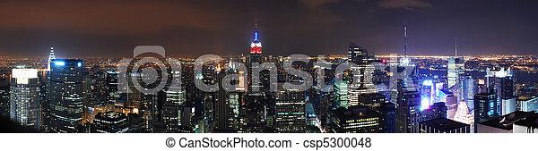 New York City Manhattan skyline panorama - csp5300048
