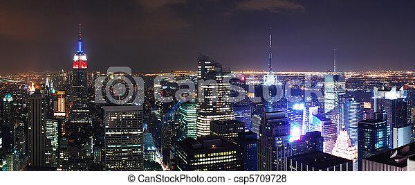 New York City Manhattan skyline panorama - csp5709728