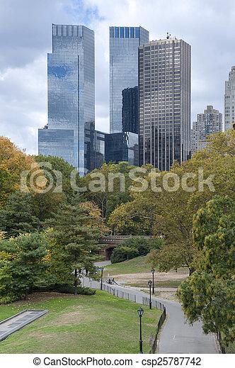 New York City Manhattan skyline panorama viewed from Central Par - csp25787742