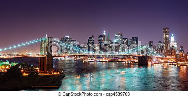 New York City Manhattan skyline panorama - csp4539703