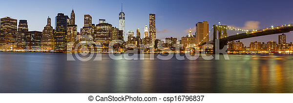 New York City Manhattan skyline - csp16796837