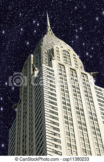 New York City Manhattan with Stars in the Sky - csp11380233
