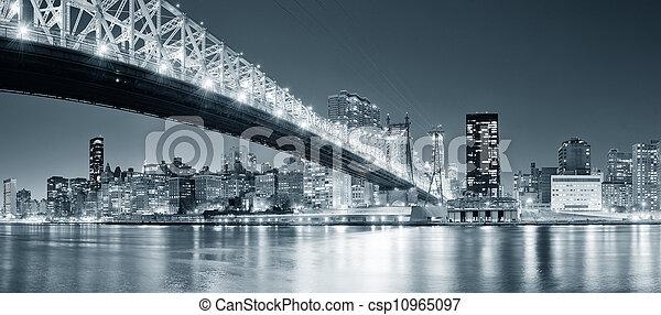 New York City night panorama - csp10965097