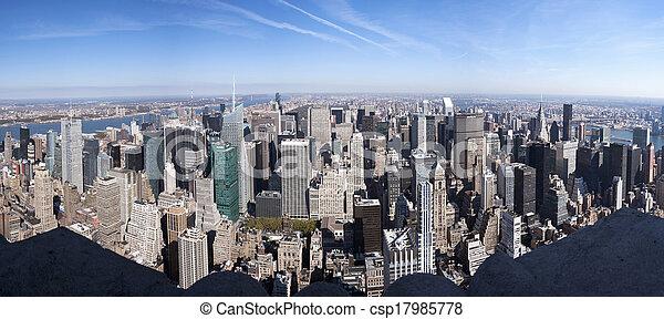 New York City Panorama - csp17985778
