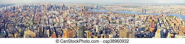 New York City panorama - csp38960932