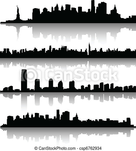 new york city silhouettes - csp6762934