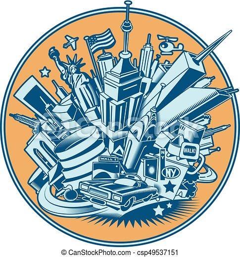 New York City skyline - csp49537151