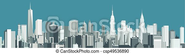 New York City skyline - csp49536890