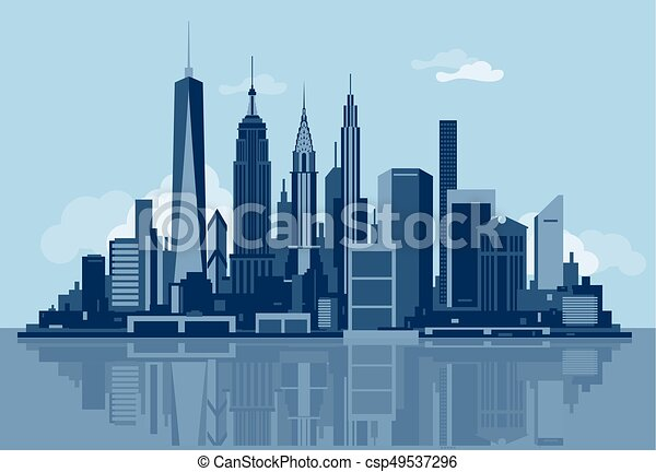New York City skyline - csp49537296